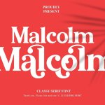 Malcolm Classy Serif Font