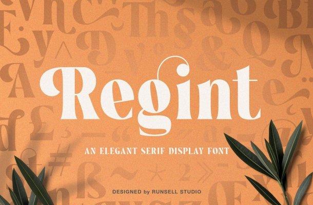 Regint Elegant Serif Display Font