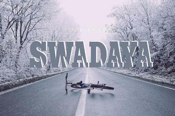 Swadaya Display Font Free