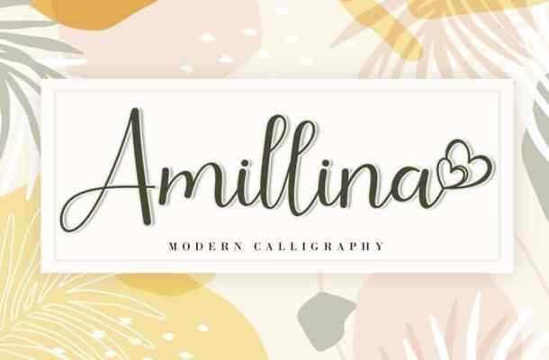 Amillina Calligraphy Font Free