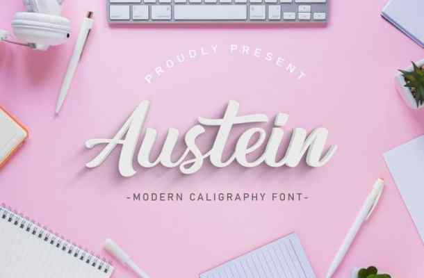 Austein Script Font Free