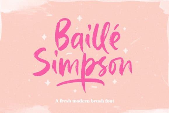 Baille Simpson Brush Font