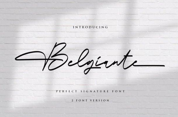 Belgiante Handwritten Font Free