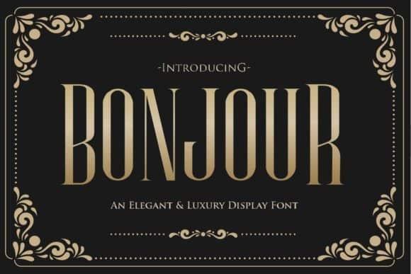 Bonjour Display Font Free