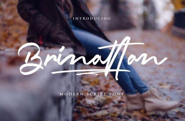 Brinattan Script Font Free