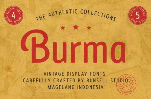 Burma Display Font Free