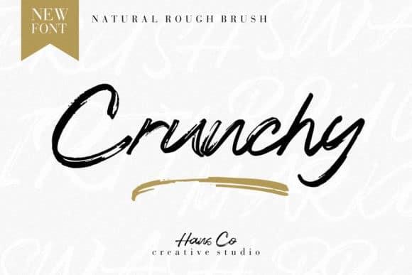 Crunchy Brush Font Free