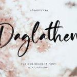 Daglathem Brush Font Free