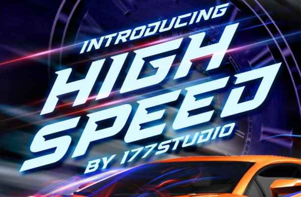 High Speed – Sports Display Font