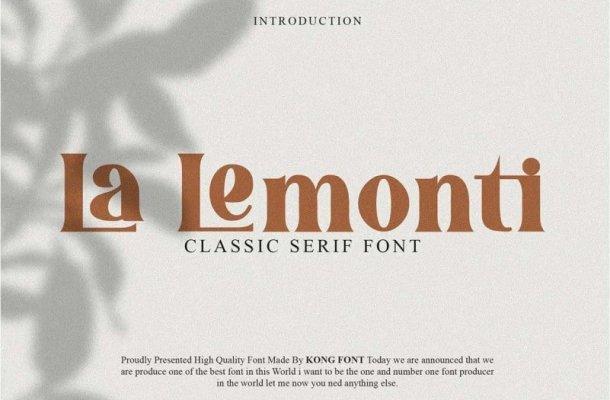 La Lemonti Serif Font
