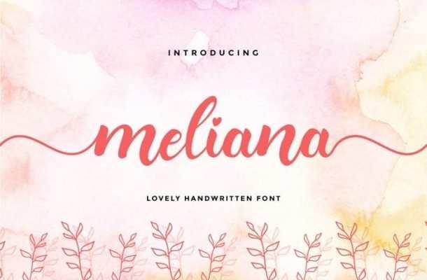 Meliana Calligraphy Font Free