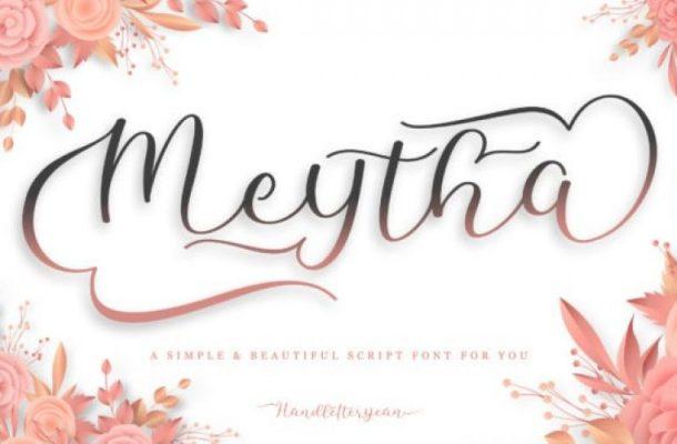 Meytha Calligraphy Font Free