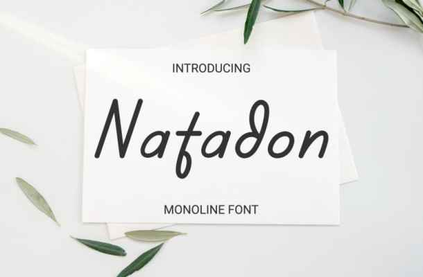 Natadon Handwritten Font