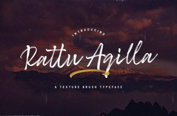 Rattu Aqilla Brush Font