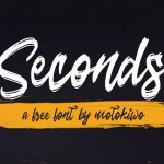 Seconds Brush Font Free