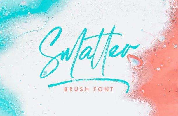 Smatter Brush Font Free