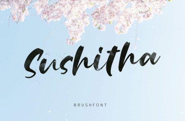 Sushitha Brush Font Free