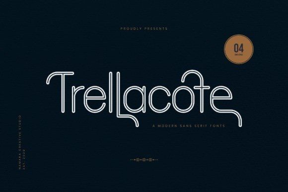 Trellacote Sans Serif Font