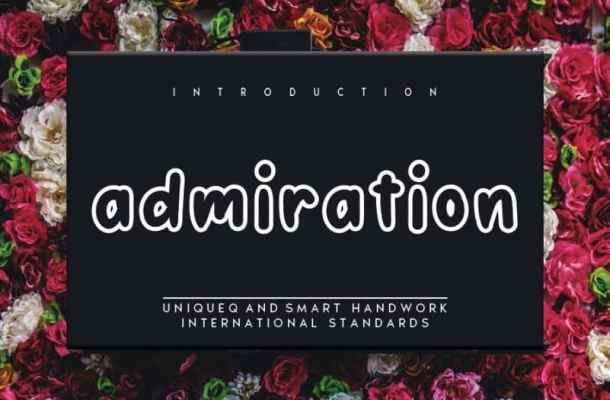 Admiration Display Font