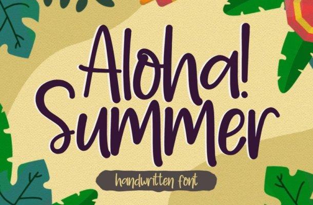 Aloha Summer – Handwritten Font