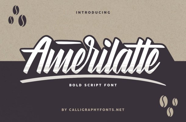 Amerilatte Bold Script Font