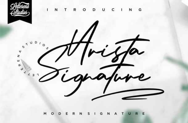 Arista Signature Font Free