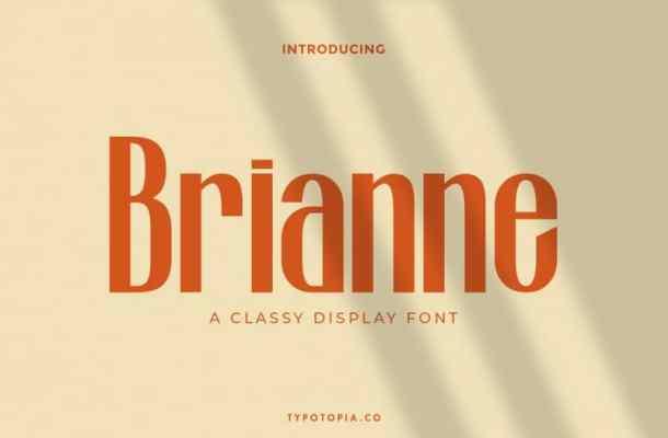 Brianne A Classy Display Font