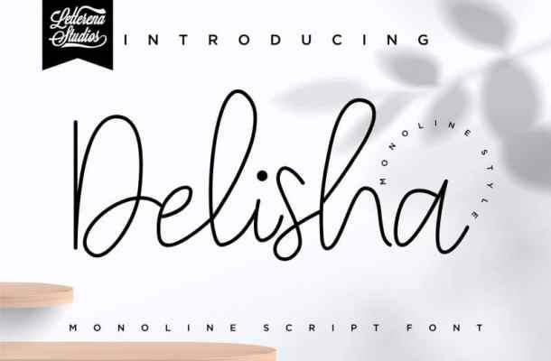 Delisha – Script Font Free