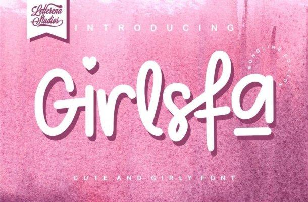 Girlsfa – Cute and Girly Font
