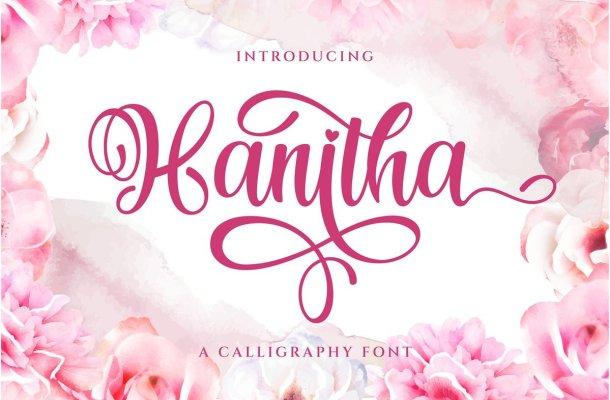 Hanitha Calligraphy Script Font