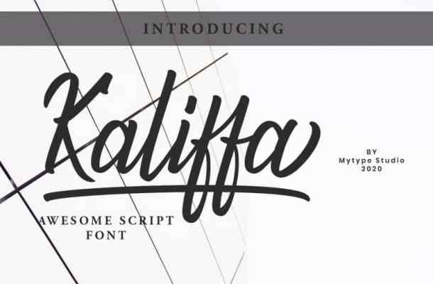 Kaliffa – Script Font Free