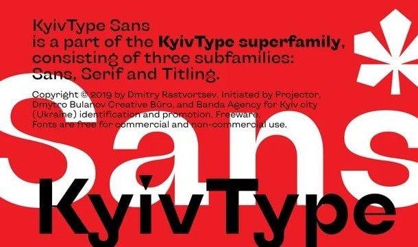 KyivType Sans Serif Font Family