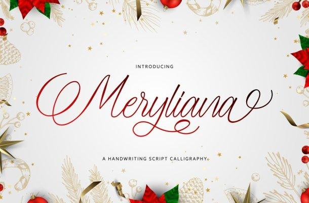 Meryliana Calligraphy Script Font