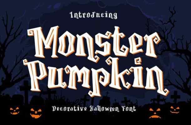 Monster Pumpkin Display Font