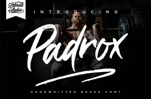Padrox Brush Font Free
