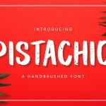 Pistachio Hand Brush Script Font