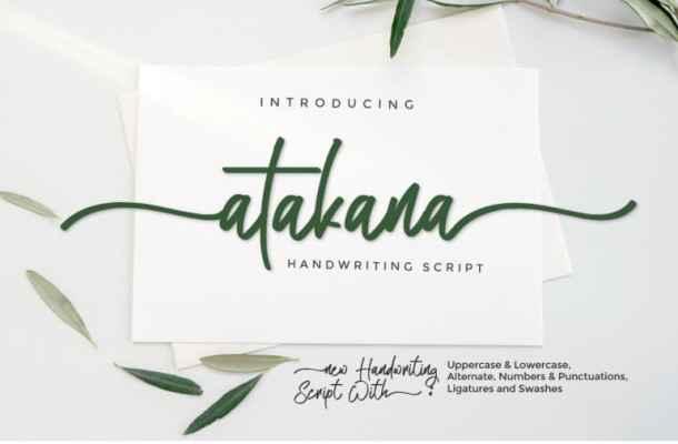 Atakana Script Font Free