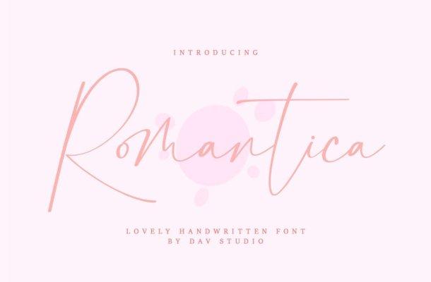 Romantica Lovely Handwritten Script Font