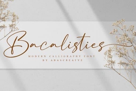 Bacalisties Script Font Free