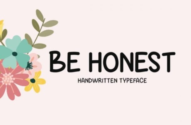 Be Honest Display Font