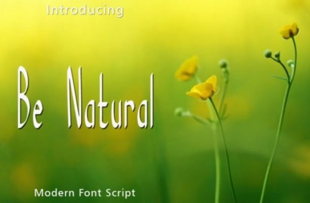 Be Natural Display Font