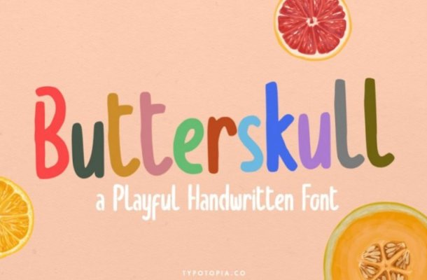Butterskull Display Font Free