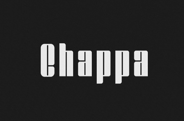 Chappa Display Font Free
