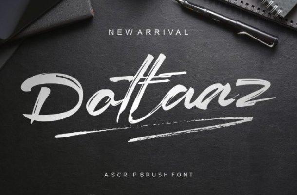 Dottaz Brush Font Free
