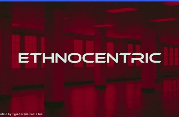 Ethnocentric Display Font