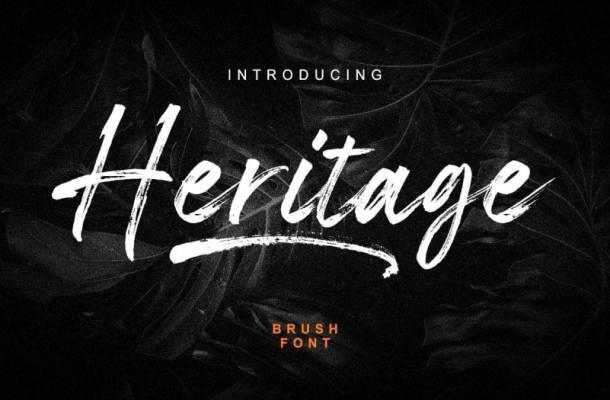 Heritage Brush Font Free