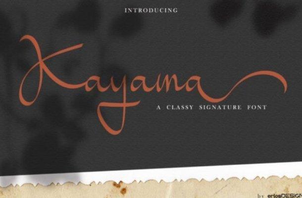 Kayama Calligraphy Font Free