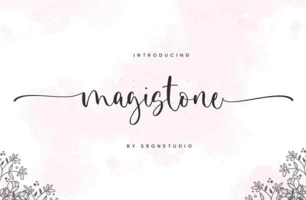 Magistone Calligraphy Font