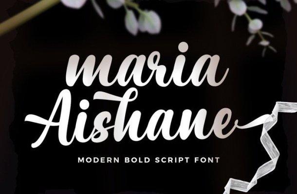 Maria Aishane Script Font