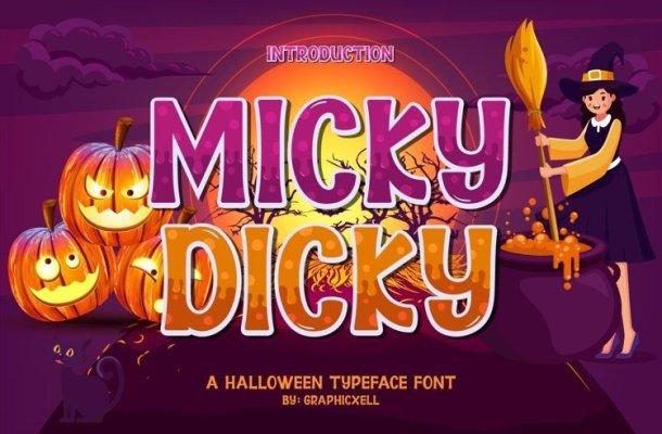 Micky Dicky Display Font